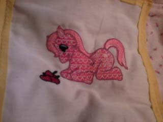 Pink Pony flower quilt IN STOCK