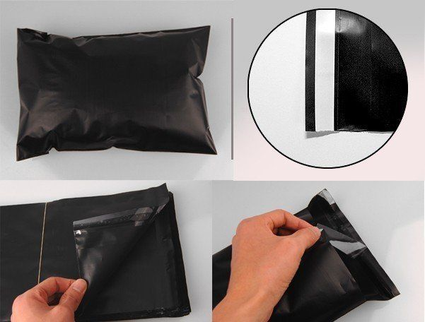 1-1000 10x13 ( Black ) Color Poly Mailers Shipping Boutique Bags Fast Shipping