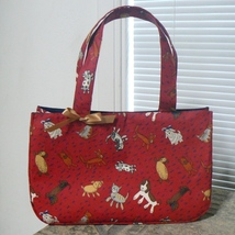 Raining Cats & Dogs Fabric Tote Bag Purse (BN-PUR108o) - $20.00