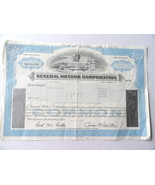 General Motors Stock Certificate Nov 1981 50 Sh... - $5.69