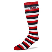 NFL Kansas City Chiefs Striped Knee High Hi Tube Socks One Size Fits Mos... - $7.95