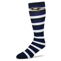 NFL Baltimore Ravens Striped Knee High Hi Tube Socks One Size Fits Most ... - $8.95