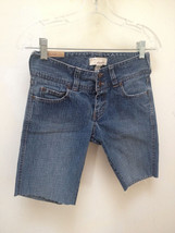 Abercrombie 14 Slim Jean Shorts Blue Denim Stretch Cutoff Girls - $12.72