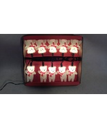 Vintage Santa Teddy Bear String Lights Christmas Decoration - $13.54