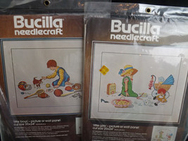 Bucilla Crewel Little Boys & Little Girls Vintage Kits New Embroidery - $19.80