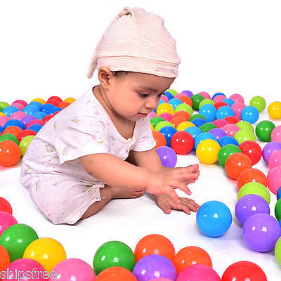 100 Pcs Colorful Soft Plastic Ball Toy for Ball Pit Pool Ocean Swim Water Toy