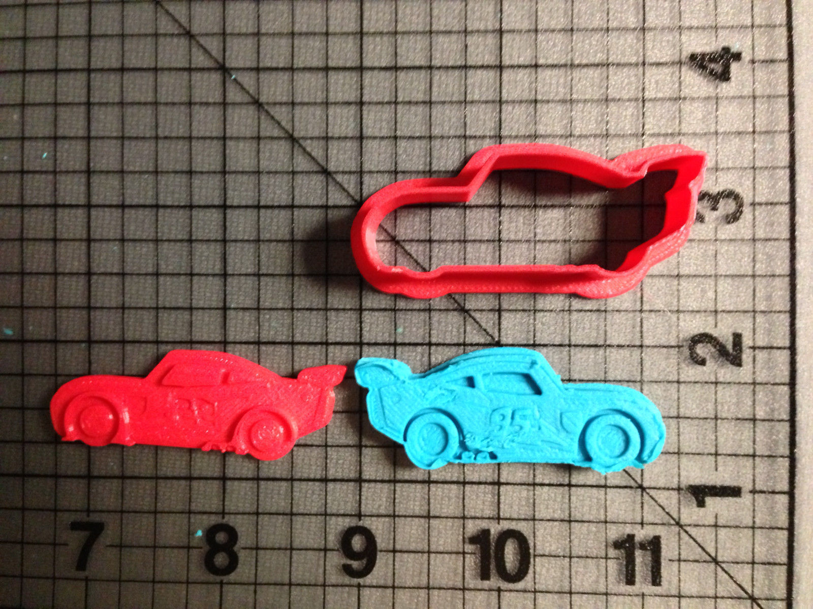 Lightning McQueen Cars Cookie Cutter and Stamp
