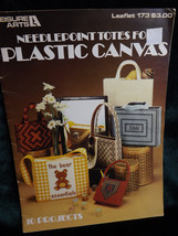 Leisure Arts Needlepoint Totes For Plastic Canvas Booklet #173 10 Projec... - $14.56