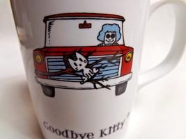 Goodbye Kitty Mug By Stupid Factory and Enesco 2007 Granny & Cat - $18.39