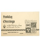 Gulf Oil vintage advertising Christmas card Cross Brothers Co Northfield Vt - $24.00