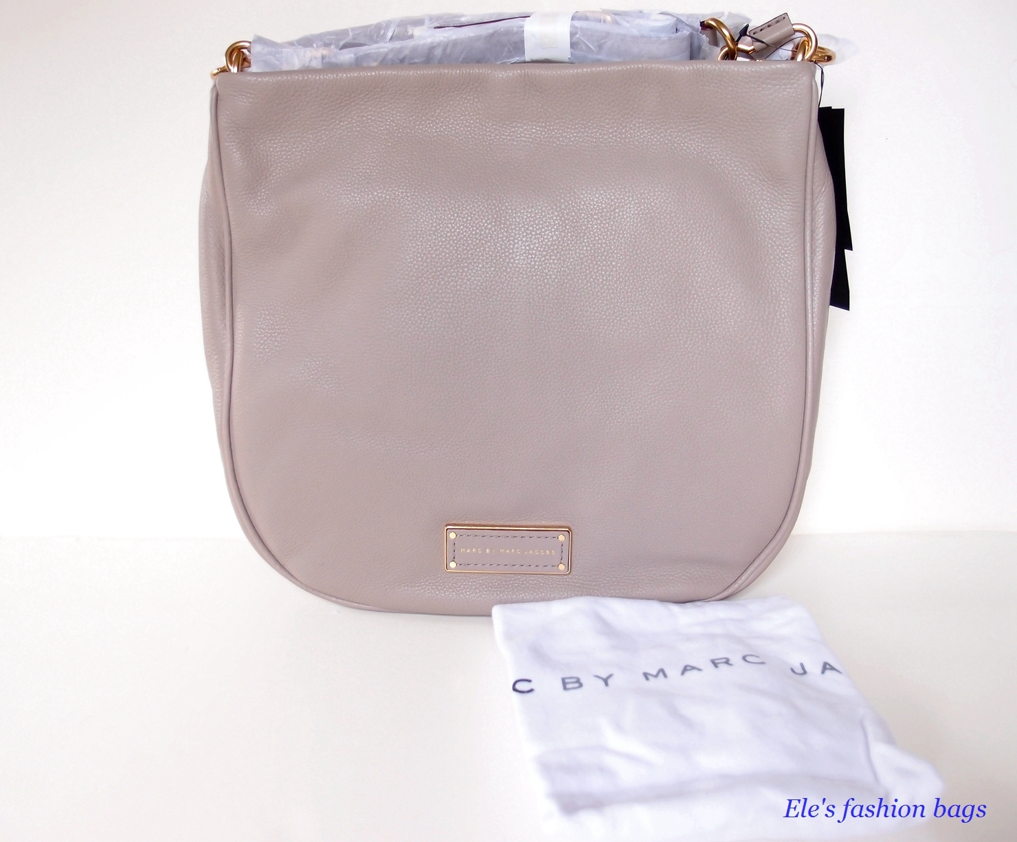 NWT MARC by MARC JACOBS Too Hot to Handle Hobo/Shoulder Bag - Cement/GOLD -$438