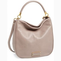 NWT MARC by MARC JACOBS Too Hot to Handle Leather Hobo Shoulder Bag Ceme... - $398.00