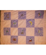 Purple/Pink teddy bear baby quilt IN STOCK - $65.00
