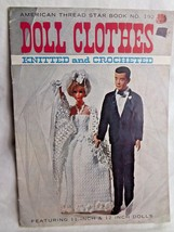 Vintage American Thread Star Book Doll Clothes Knitted & Crocheted For 1... - $21.87