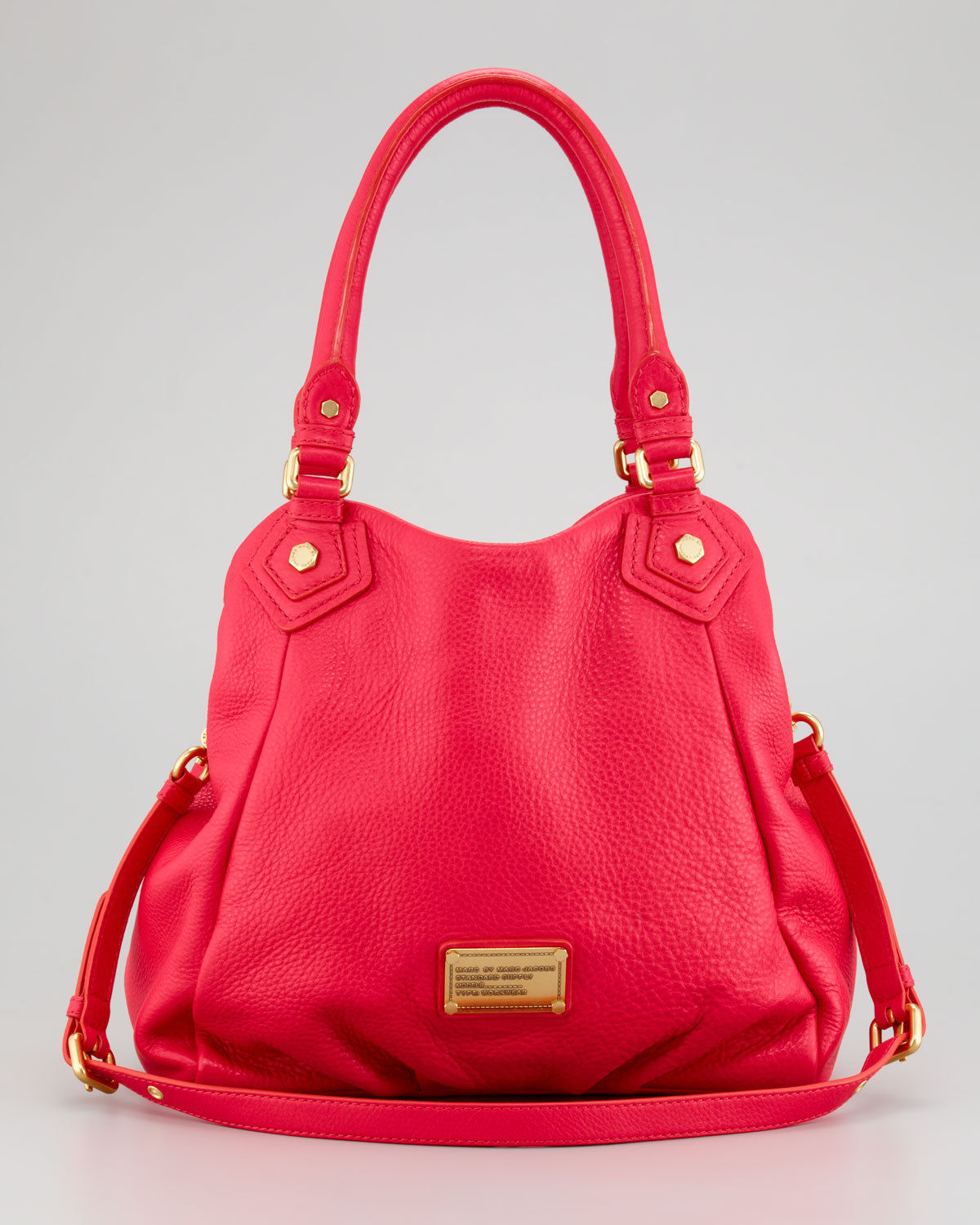 Primary image for NWT MARC BY MARC JACOBS Classic Q Fran Red Leather Shoulder Tote $480+ AUTHENTIC