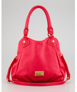 NWT MARC BY MARC JACOBS Classic Q Fran Red Leather Shoulder Tote $480+ A... - $318.00