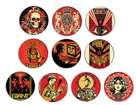 OBEY pop art pin pinback button BADGE Magnet KEYCHAIN SET 1a - $5.50+