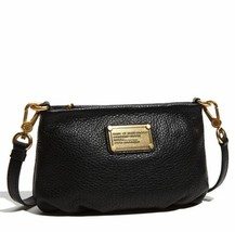 NWT MARC by MARC JACOBS Classic Q Percy Leather Crossbody Bag BLACK AUTH... - $198.00