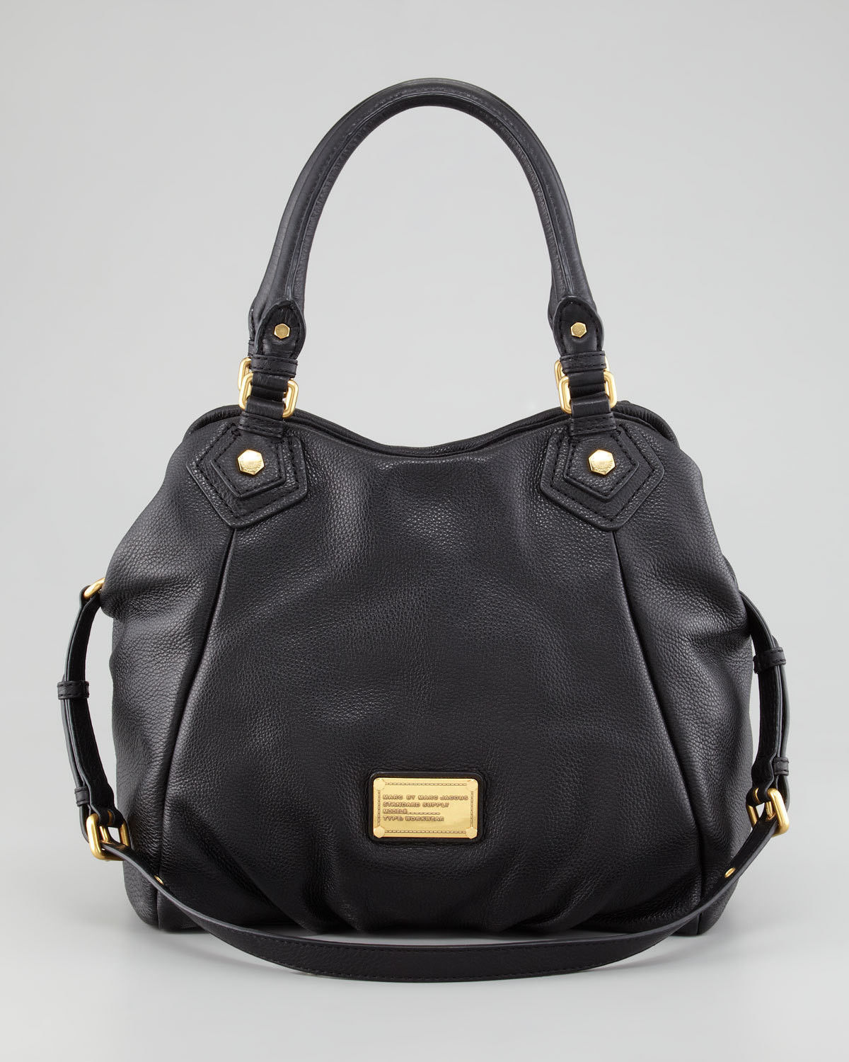 Primary image for NWT MARC BY MARC JACOBS Classic Q Fran Leather Shoulder Tote BLACK $480 AUTHENTC