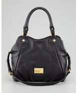 NWT MARC BY MARC JACOBS Classic Q Fran Leather Shoulder Tote BLACK $480 ... - $398.00