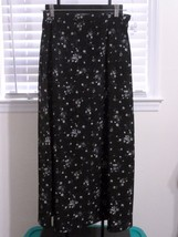 Modesty Skirt Long No Splits Black Floral Size ... - $12.59