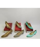 Lot of 3 Pair Salvatore Ferragamo 7 AAAA Heels Shoes 90s Italian Designe... - $98.99