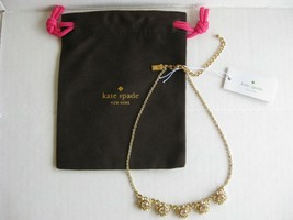 NWT Kate Spade Putting On The Ritz Crystal Row Necklace Neutral Multi w/Dust Bag - $26.50