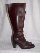 J Crew BROWN #51066 Knee High Leather Boots 6 For Women Used - $89.09
