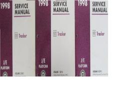 1998 Chevrolet Chevy Geo Tracker Atelier Réparation Service Manuel Set P... - $24.69