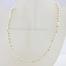 7-8mm white single strand nugget pearl necklace - $14.99