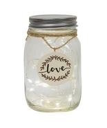 Lighted Led Mason Jar Love Valentines Mothers Day Gift  - $39.99