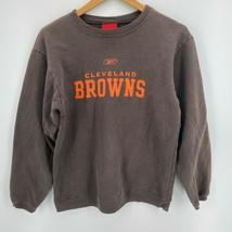 Reebok Crew Neck Sweatshirt Youth L Brown Cleveland Browns NFL Football ... - $13.96