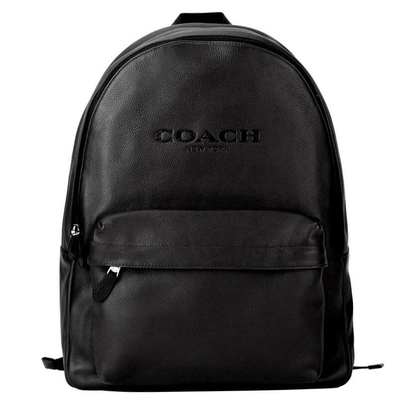 NEW MEN S COACH (F54786) CHARLES BLACK CAMPUS SPORT CALF LEATHER BACKPACK  BAG -  195.00 9476982f55