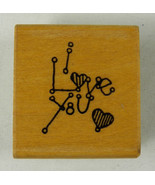 I LoveYou Valentine's Day Rubber Stamp Greeting Card Expression DOTS C17... - $2.59