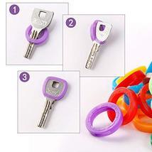 40 Pack Silicone Key Cap Tags,Plastic Key Identifier Rings,Key ID Rings,4 Pcs Ea image 5