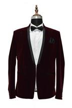 Men Burgundy Smoking Blazers Designer Dinner Wedding Party Wear Blazers - $170.78
