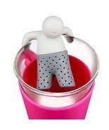 Cute Tea Strainer Silicone Filter Infuser Spice Leaf Herbal Loose Diffuser - $3.21
