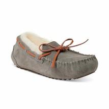 Dearfoams Fireside Victoria Shearling Womens Moccasin Slippers Grey Size 7 - $54.00
