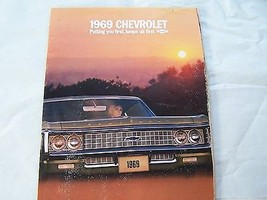 1969 CHEVY IMPALA  427   396 327 OWNERS  SALES BROCHURE SERVICE PARTS - $24.99