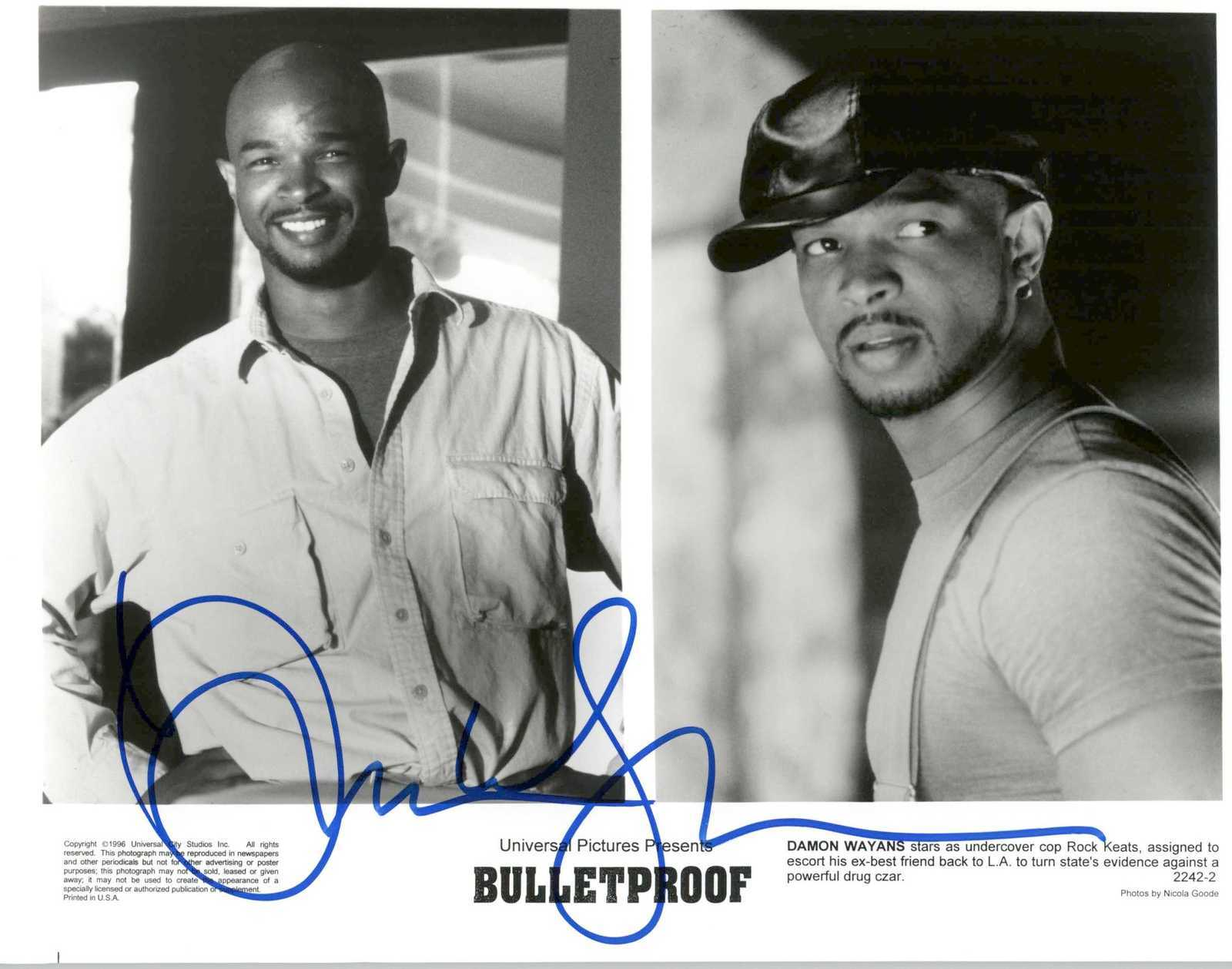 "Primary image for Damon Wayons Signed Autographed ""Bulletproof"" Glossy 8x10 Photo"