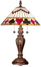 Table Lamp DALE TIFFANY ROYAL FLUSH 2-Light Fieldstone - $289.99