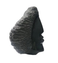 fiber modern art head sculpture indoor home decor contemporary rare desi... - $198.00