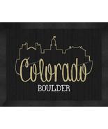 Colorado at Boulder 13 x 16 Uscape with Retro Skyline Framed Print  - $39.95