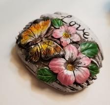 Decorative Stones Set of 3 Garden Decor Love Peace Hope Painted Rock image 7