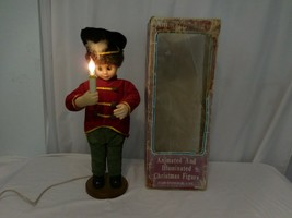 Christmas Soldier Light up Candle Motion Animated + Feather very Rare VT... - $52.59
