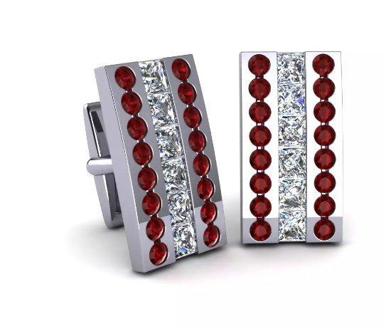 925 Sterling Silver Genuine Garnet And Cz Gemstone Artistic Design Handcrafted M