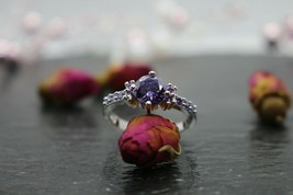 Fire Nymph of passion and desire !!! Amethyst Topaz Gemstone Ring 925 Si... - $31.75