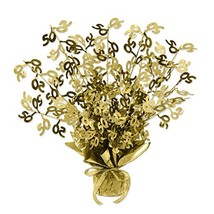 Beistle Gold 50 Gleam 'N Burst Centerpiece, 15-Inch, Gold - $12.03