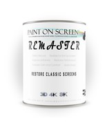 Projector Screen Paint - Remaster Vinyl Screen - Restore and Renew - White - Gal - $498.00