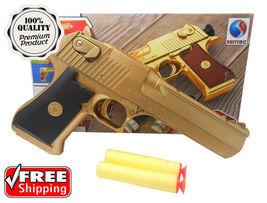 Nerf Style Toy Gun Classic Pistol Desert Eagle Kid Dart Guns Soft Bullet... - $19.98